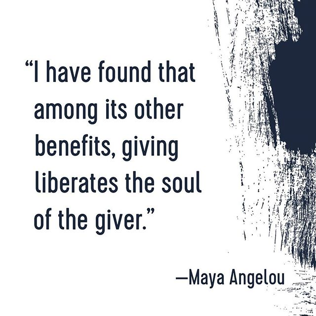Do yourself a favor and give! Whether it's time, support, money, or kind words, give a little every now and again. @equal_by_design #equal_by_design #mayaangelou #givingtuesday #spreadthelove #thanksgiving