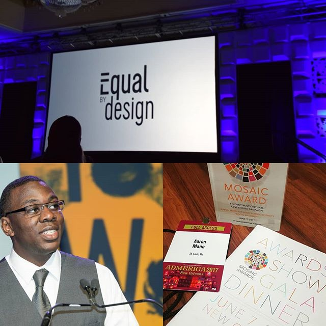 This was a great year for Equal by Design. The project won the AAF Mosaic Award! The award honors organizations and individuals whose work foster diversity and inclusion. I have exciting plans for 2018 and plan on sharing them with you! Happy New Year! @amann_am