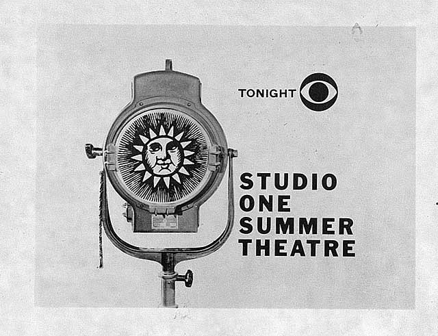 CBS program titles: Studio One Summer Theatre