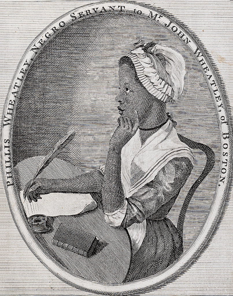 """To S.M., a young African painter, on seeing his works,"" in a copy of her 1773 edition of Poem On Various Subjects, Religious And Moral.  PHILLIS WHEATLEY"
