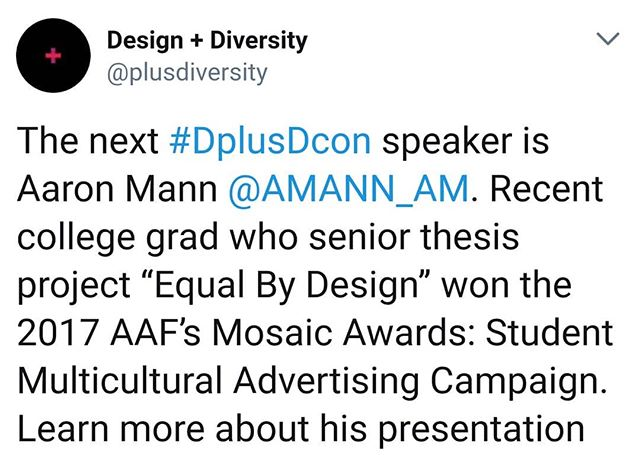 Really excited to be part of this amazing conference!! Learn more at designplusdiversity.com #DplusDcon #designplusdiversity