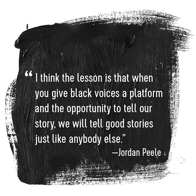 And hopefully inspire more of us to tell our stories. #jordanpeele #oppertunity #us #representationmatters