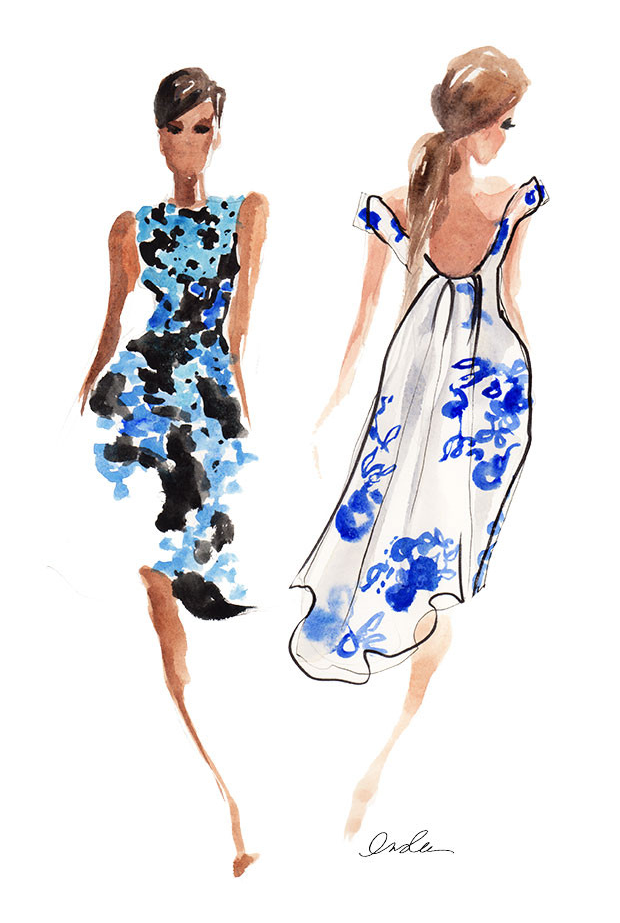 Lela Rose SS15 Blue by Inslee Fariss
