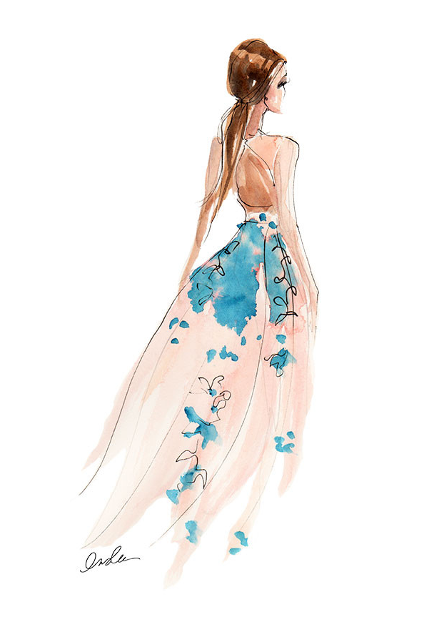 Lela Rose SS15 Pink and Turquoiseby Inslee Fariss