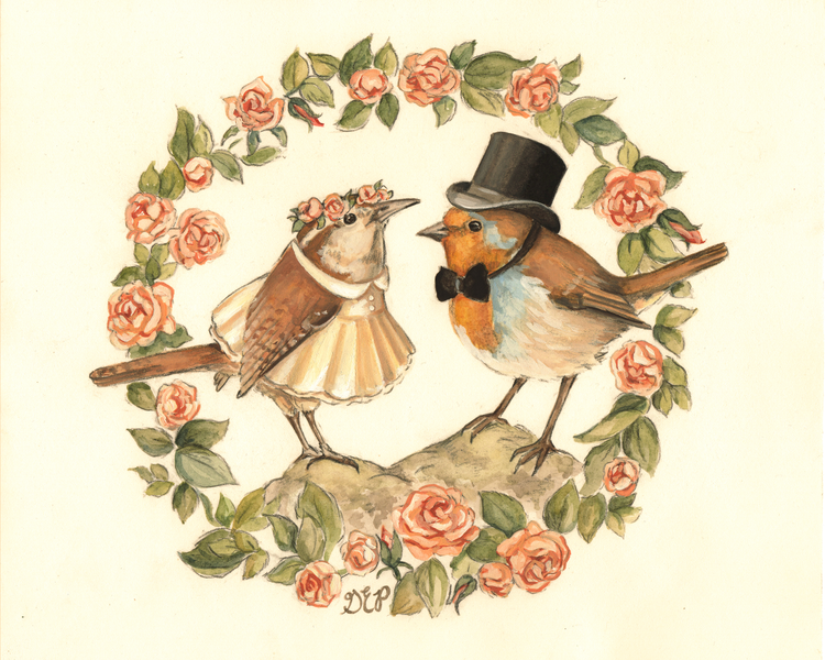 The Marriage of Cock Robin to Jenny Wren by Gretchen Ellen Powers