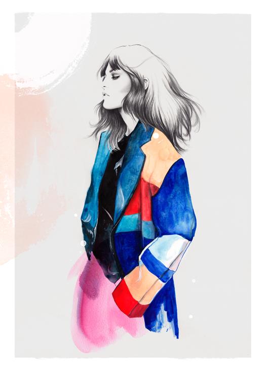 Céline Colorblock Coat by Esra Røise
