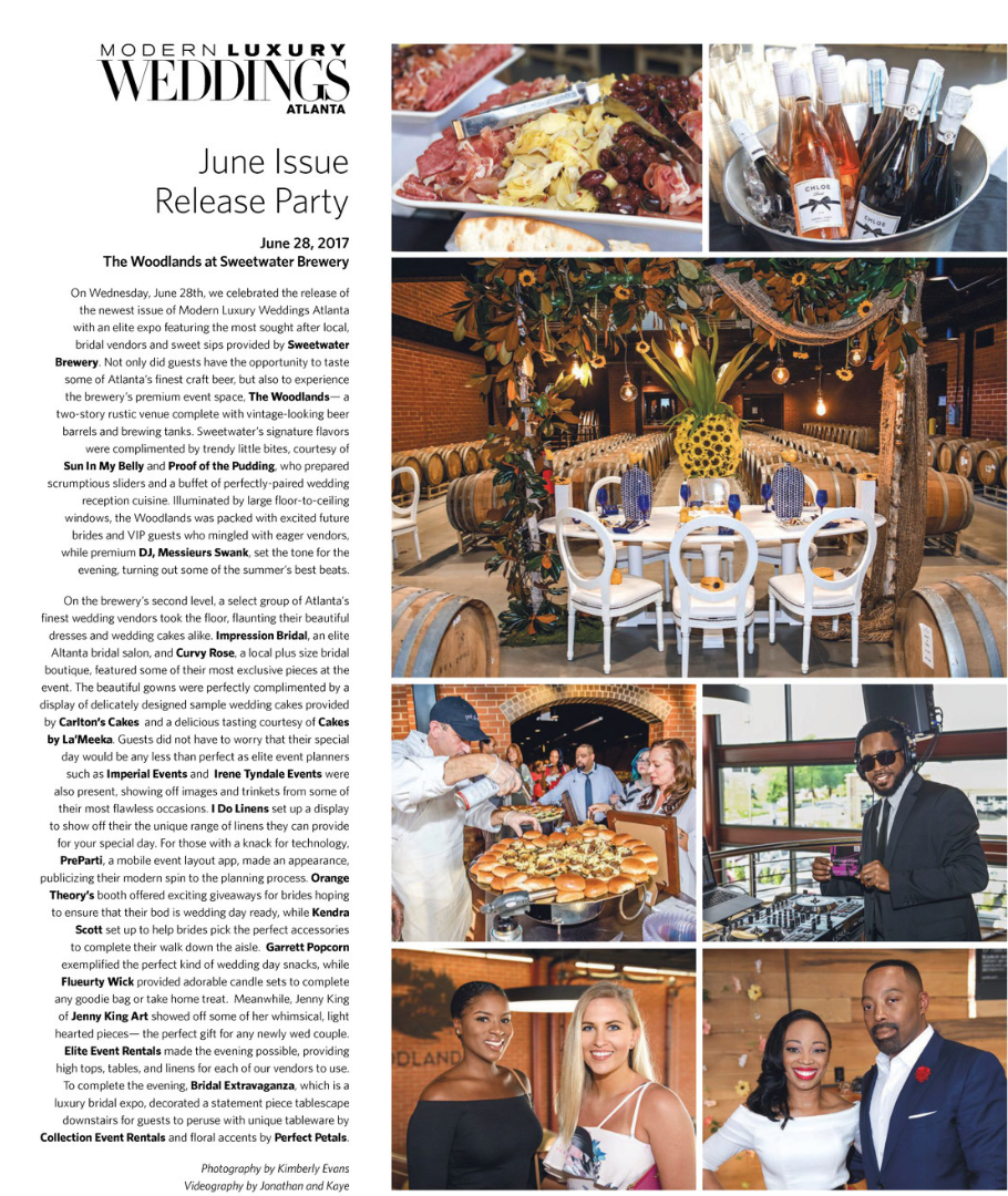 Modern Luxury Weddings Atlanta June Issue Release Celebration - The Woodland at Sweetwater Brewery