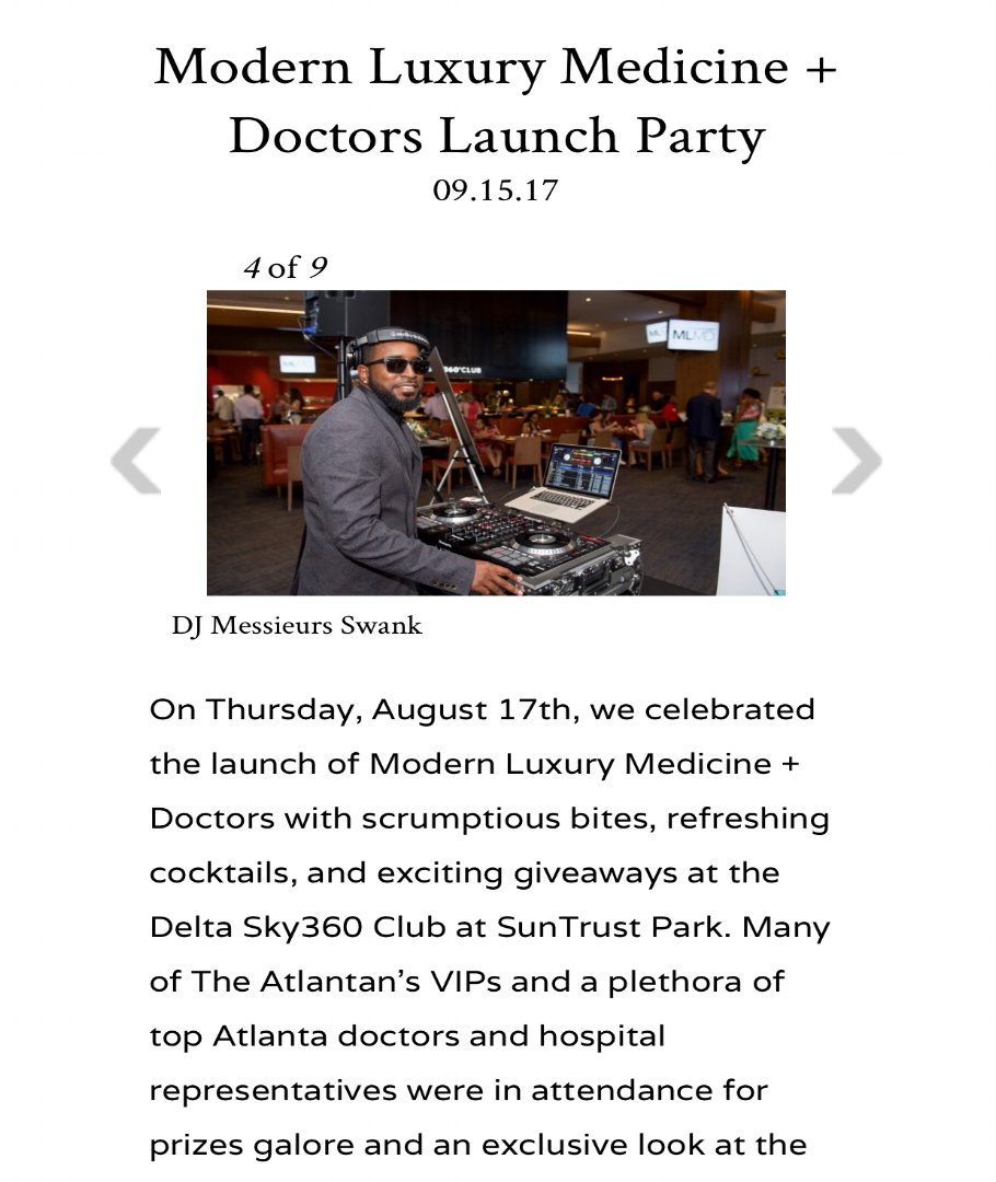 Modern Luxury Medicine + Doctors Launch Celebration - Delta Sky360 Club at Suntrust Park