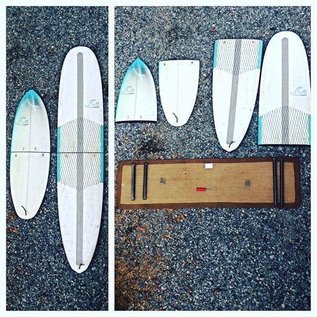 Let me just throw my boards in the trunk...... #surf #twopieceboard #surfing #longboard #shortboard #thecarboncompact