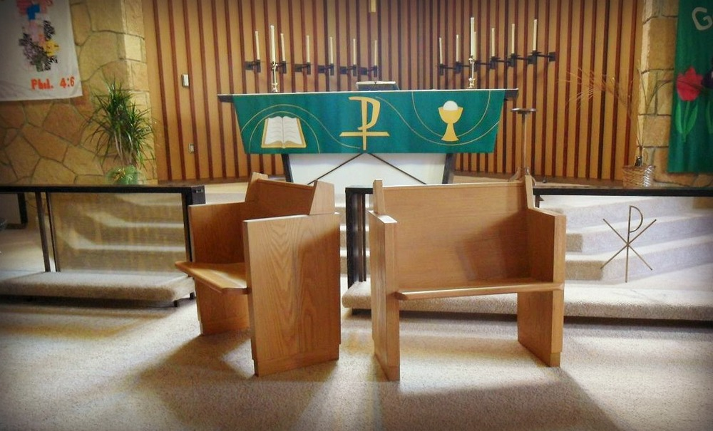 chairs for church made from pews.JPG