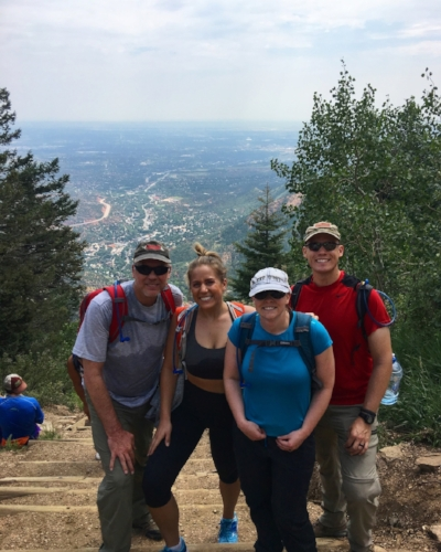 Joe and his family crushing their hike in CO.