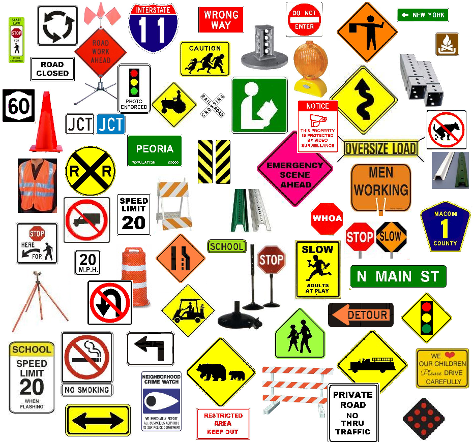 Traffic Sign Collage