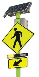 RRFB Pedestrian Sign