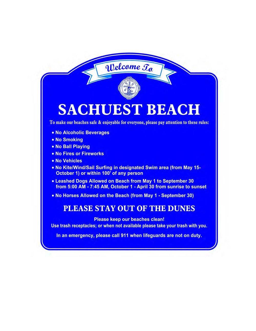 Custom Sign - Sachuest Beach