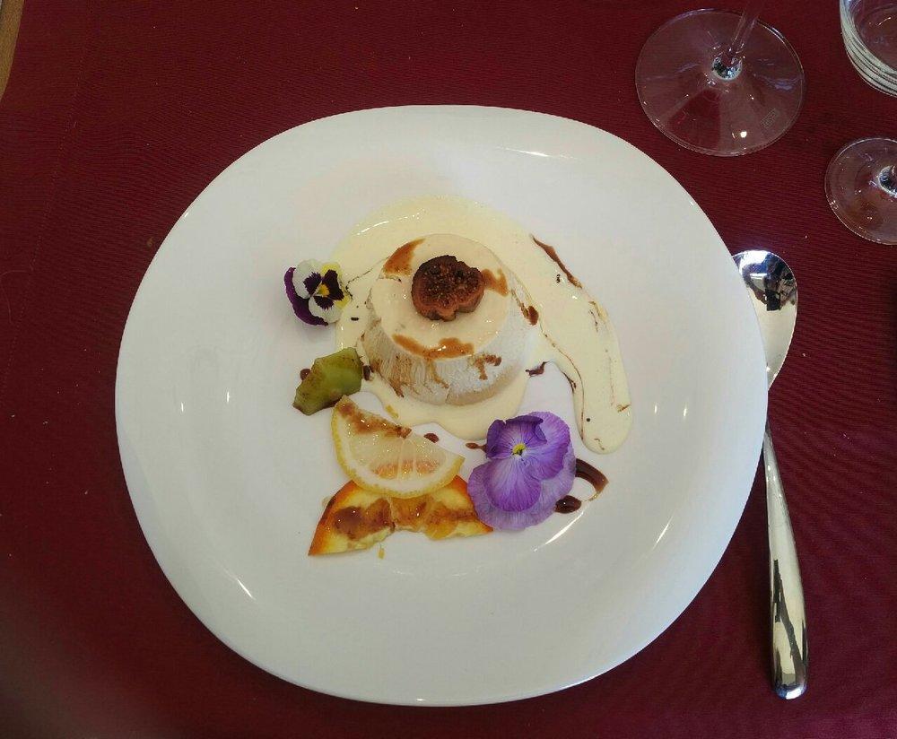 Semifreddo Dessert at Serracavallo Winery, Calabria