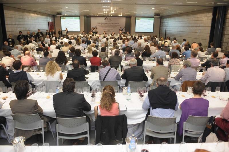 One of Vinitaly's many seminars and wine tasting