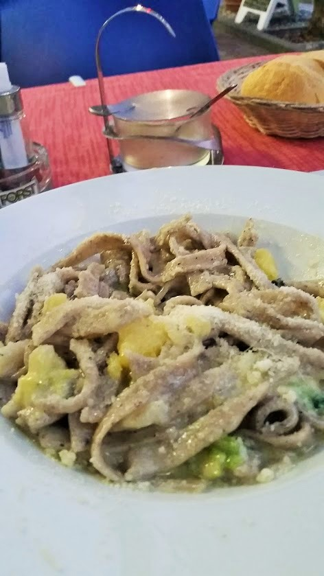 Pizzoccheri Pasta - A Valtellina food staple. Pair it with local Nebbiolo wine!