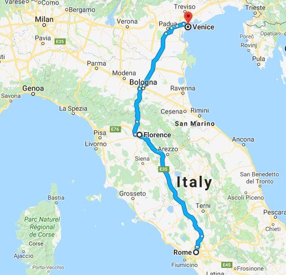 Rome-Florence-Venice Tour Map.JPG