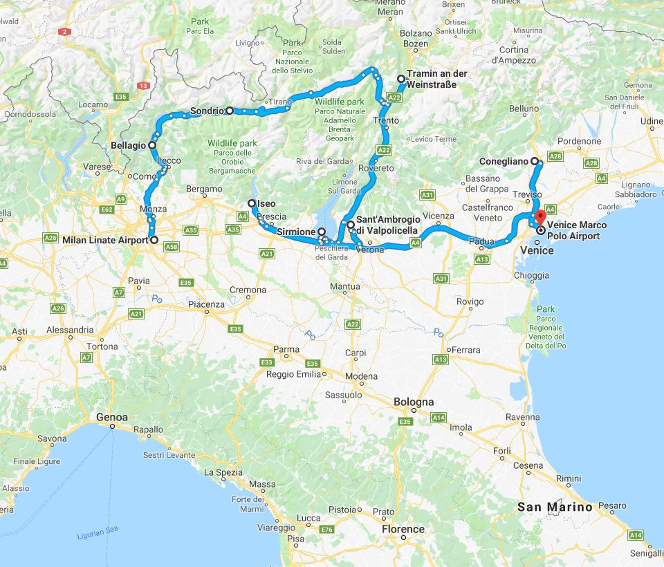 from Amarone to Prosecco MAP.JPG