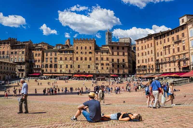 Piazza del Campo in Sienna, Italy