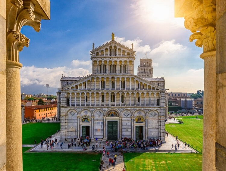 Pisa Cathedral (Duomo di Pisa) on Piazza dei Miracoli in Pisa, Tuscany, Italy