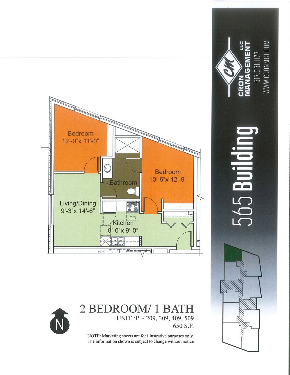 209-509- Two Bedroom, One Bath
