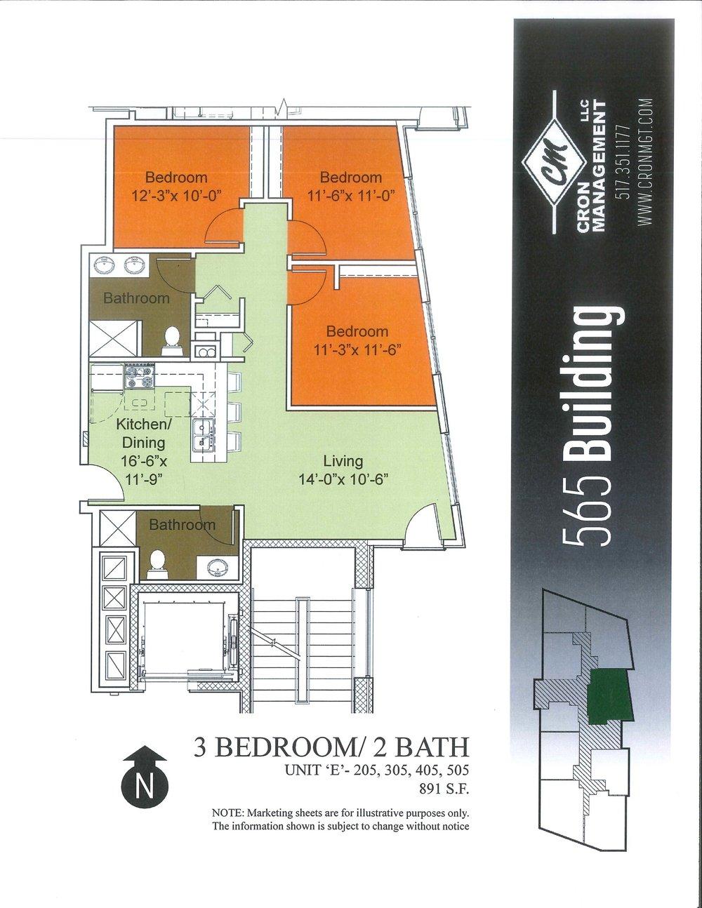 205-505- Three Bedroom