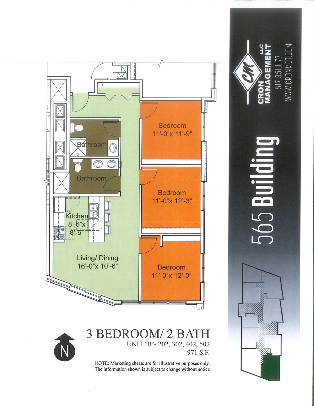 202-502- Three Bedroom Premium