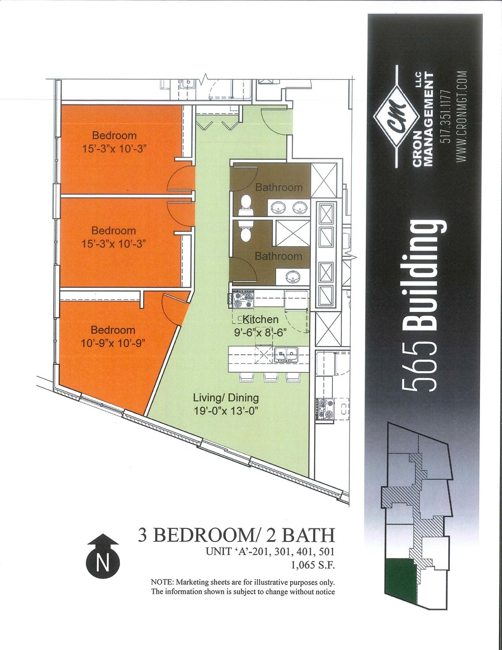 201-501- Three Bedroom Premium