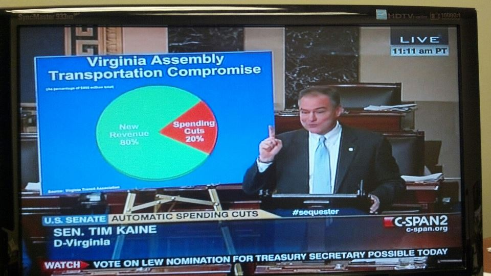 Tim Kaine Graph Picture