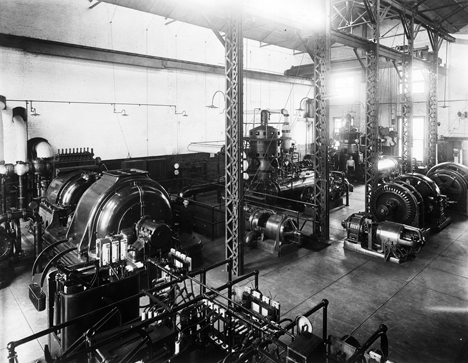 1925 photo of a Raleigh Steam Plant - North Carolina State Archives