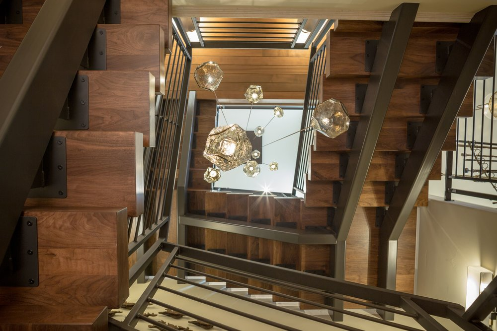 Architecture Photo of Winding Staircase Taken By the Professional Architecture Photographers at Harper Point.