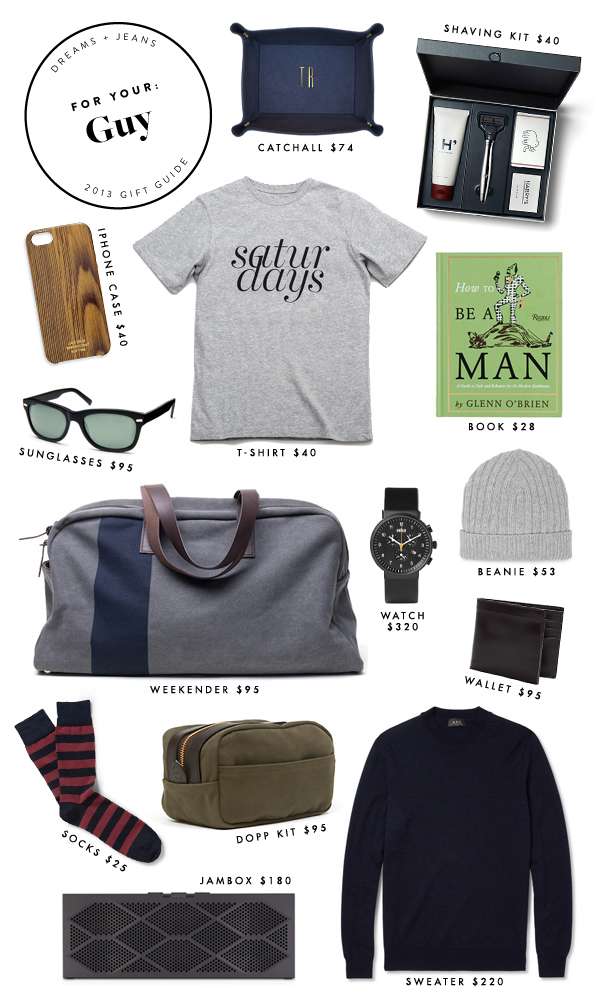 Holiday gift guide for your guy dreams jeans for Gifts for men friends