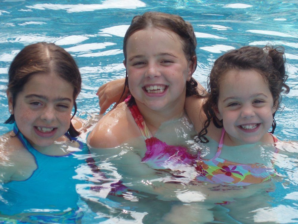 Me, far left, taking swim lessons from Liquid Lifestyles (2003)