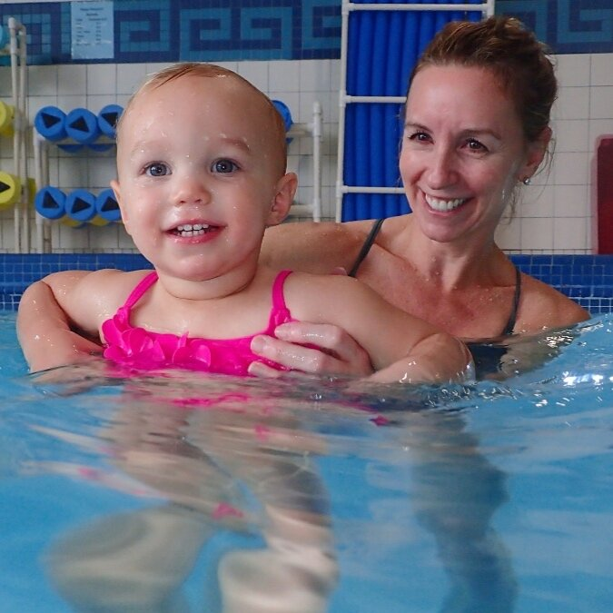 Parent & Child classes where our littlest swimmers, ages 6 to 35 months, learn to love the water.
