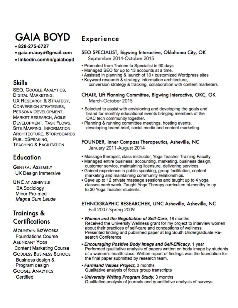 internship final paper essay