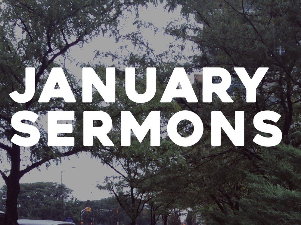 JANUARY 2017 SERMONS