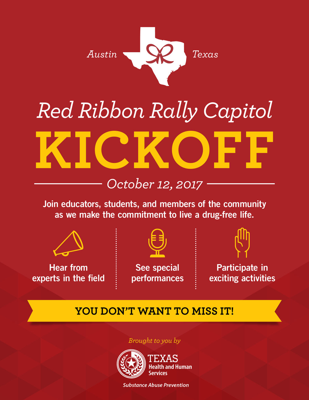 Red Ribbon Rally Flyer Design  (Click to expand)
