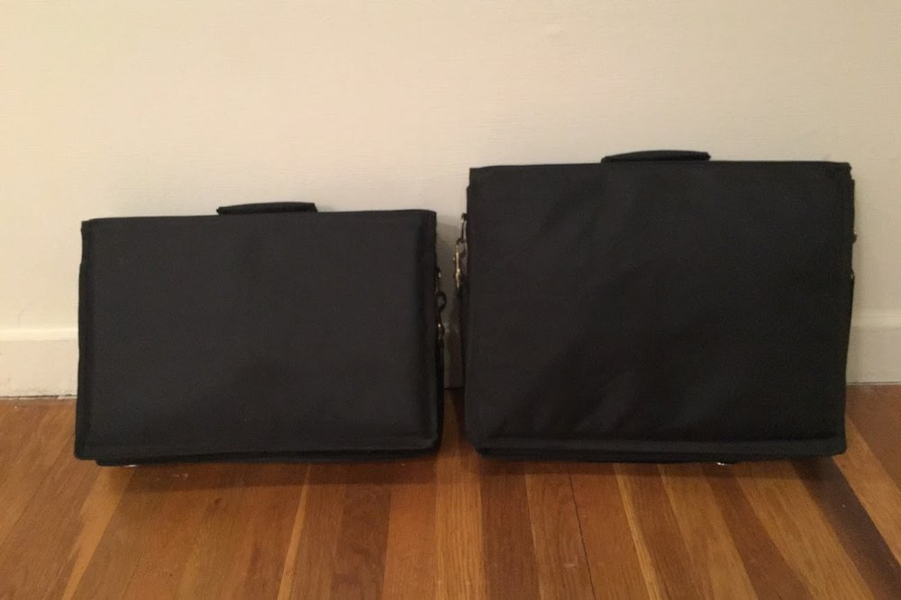 M1 & M3 Shruti Boxes inside Bags