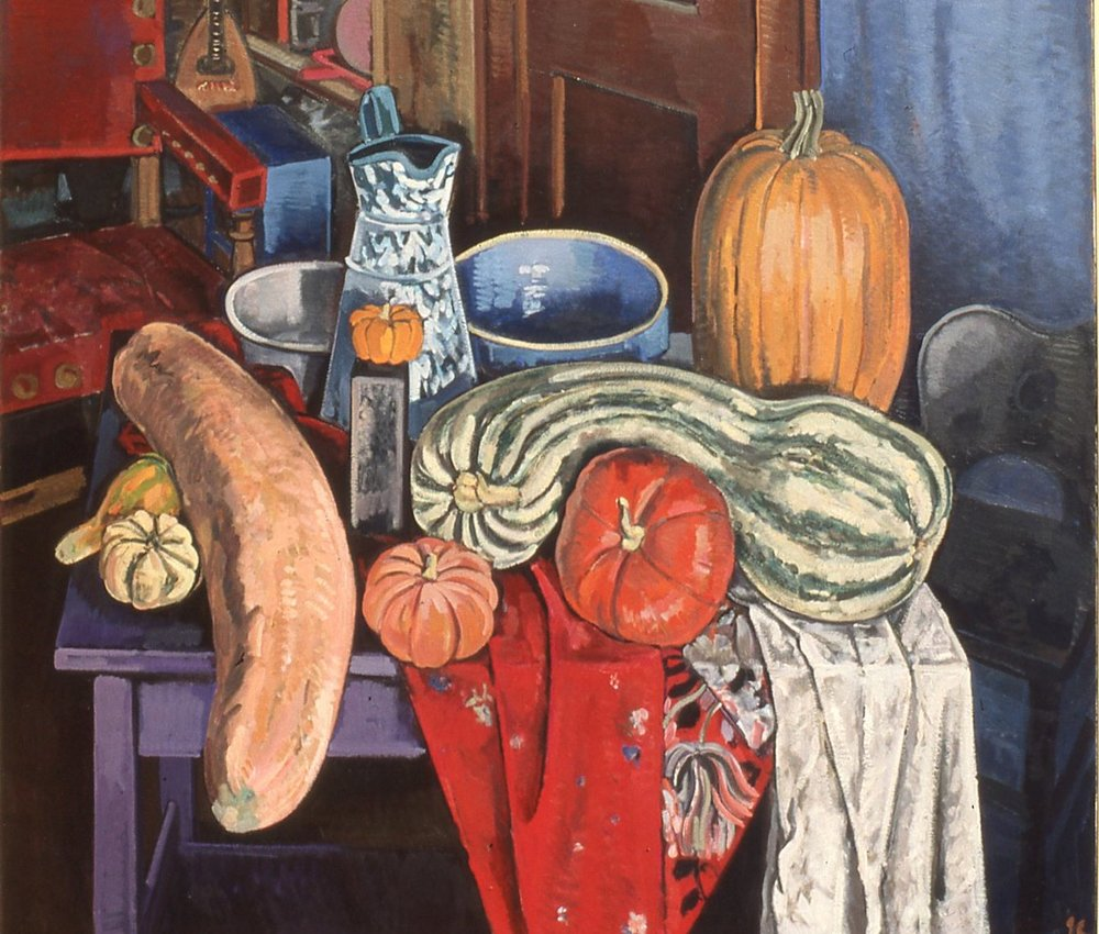 Still Life with Gourds: 55 x 60in. 1989.
