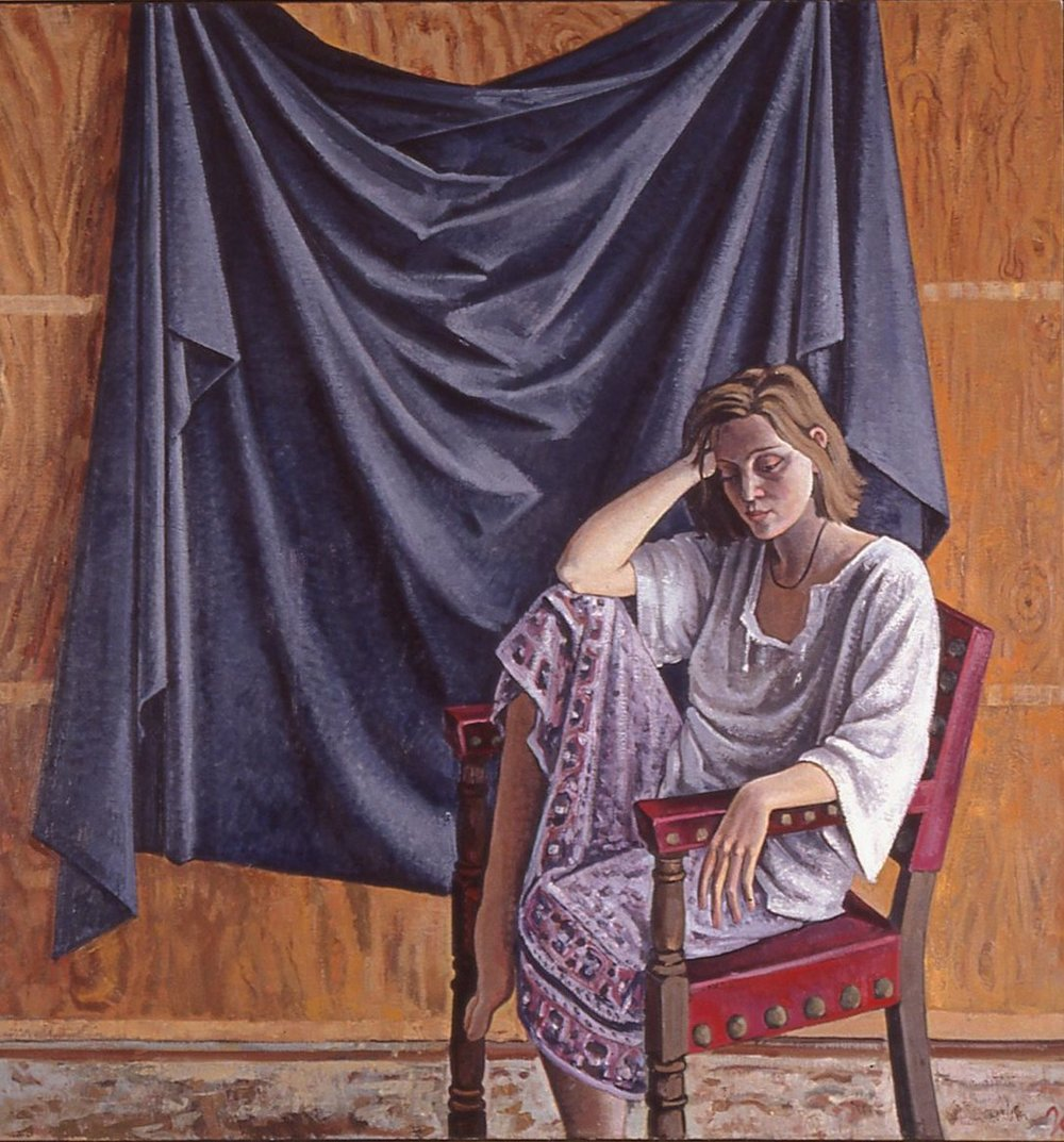 Model with Black Drape: 72x70 in. St. Mary's, 1990s.