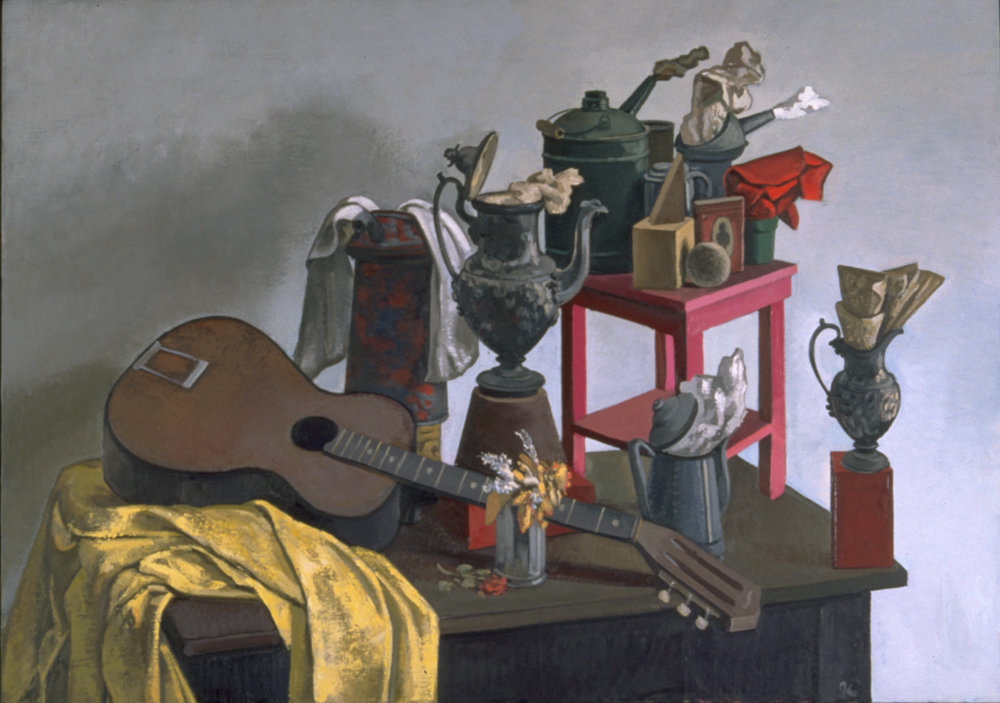 Still Life with Guitar; Park Hall. 1990s.