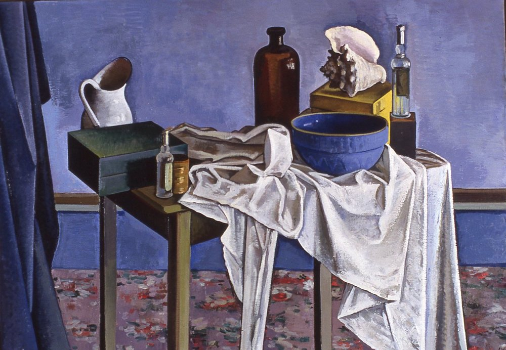 Still Life with Blue Bowl; Park Hall. 1990s.