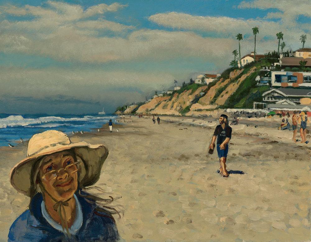 Laura at Moonlight Beach