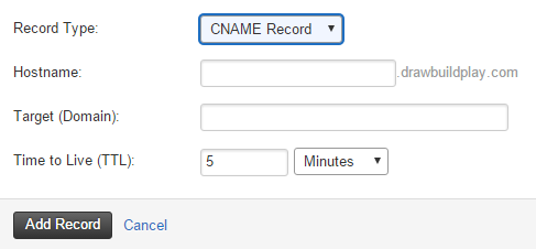 Sample DNS Record Fields