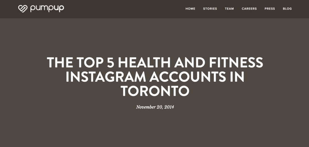 top 5 health and fitness instagram accounts in toronto