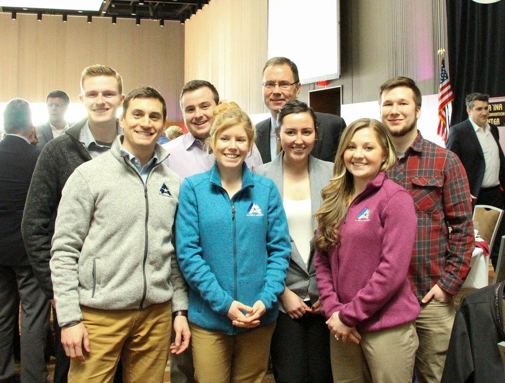 The NextGen Aviators Group with Alaska Airlines CEO, Brad Tilden in back.