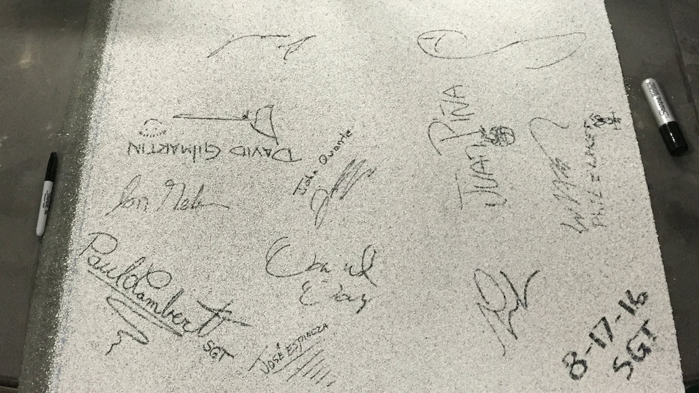 Glaskap CR G roll signed by the development team