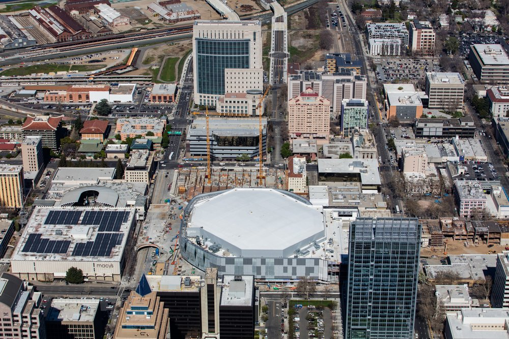 Kodiak Union Roofing Services   installed JM 60 mil PVC on the new arena in Sacramento, CA