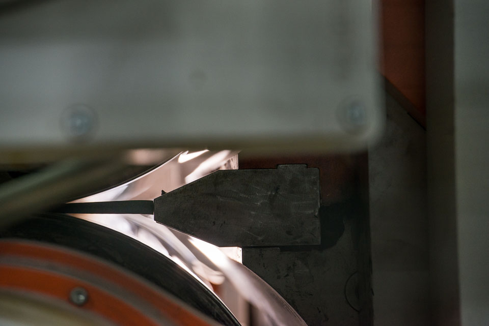epdm material exiting the lip of the die.